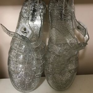Clear sparkle Jellly sandals